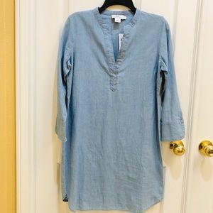 Vineyard vines chambray tunic shirt dress size 0